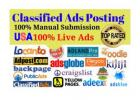 I will post free classified ads posting in USA, UK, aus top rated sites manually